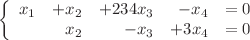 <math>\left\lbrace\begin{array}{ r r r r r}