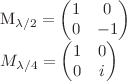 <math>M_{\lambda/2}=\begin{pmatrix} 1&0\